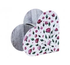 Коробка в виде сердца 20*22*9 см, дизайн 44