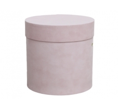 Коробка бархатная-люкс, d-200, h-200, розовая