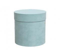 Коробка бархатная-люкс, d-150, h-150, мятная