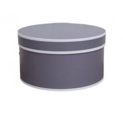 Коробка для цветов цилиндр, d-200, h-110, дизайн 10