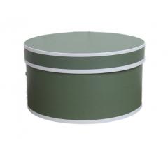 Коробка для цветов цилиндр, d-200, h-110, дизайн 12