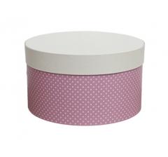 Коробка для цветов цилиндр, d-200, h-110, дизайн 14