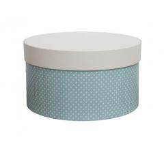 Коробка для цветов цилиндр, d-200, h-110, дизайн 16