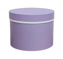 Коробка для цветов цилиндр d-200, h-150, дизайн 9