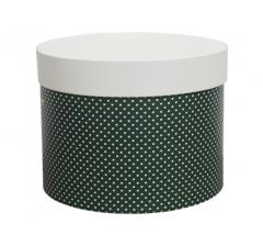 Коробка для цветов цилиндр d-200, h-150, дизайн 10