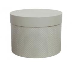 Коробка для цветов цилиндр d-200, h-150, дизайн 14