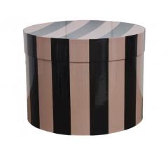 Коробка для цветов цилиндр d-200, h-150, дизайн 27