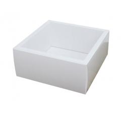 Коробка 230*230*100 мм с прозрачной крышкой, белое дно