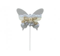 Бабочка на палочке, арт. DT19GY ( мин. заказ 12 шт. )
