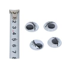 Комплект глазок на приклейке, 1.8см, 100шт