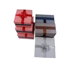 Комплект из 3 коробок подарочных серый h 16cm l 29cm d 29cm