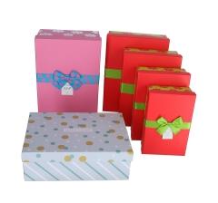 Комплект из 4-х подарочных розовый h 12cm l 32cm d 24cm 8P5596
