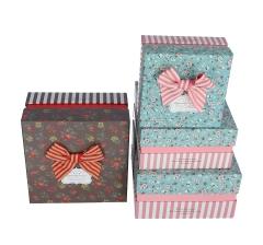 Комплект из 3 коробок подарочных h 12cm l 21cm d 21 cm 8P5599