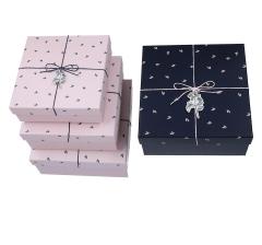 Комплект из 3 коробок подарочных черный h 12cm l 25cm d 25cm8P5603