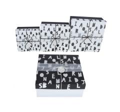 Комплект из 3 коробок подарочных белый h 11cm l 27cm d 27cm 8P5611