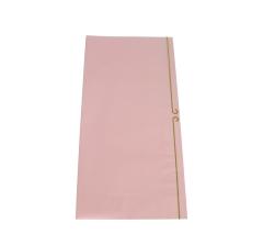 Пленка для цветов 60 х 60 см (20 шт.) , розовая с золотой полоской