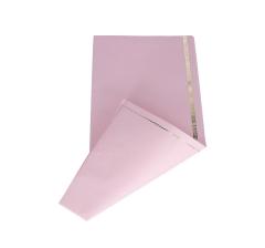 Бумага 60 х 60 см (20 шт.),розовая с золотой полоской