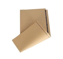 Бумага 60 х 60 см (10 шт.) , крафт с черной полоской