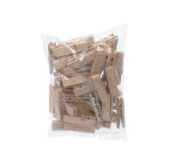 Комплект из деревянных прищепок натуральных 7 cm 8S72X16NA