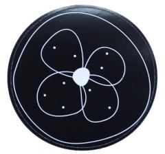 Наклейка d=50, дизайн 6, черный фон