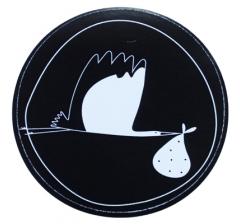 Наклейка d=50, дизайн 2, черный фон