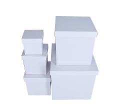 Комплект из 5 коробок подарочных белых h 41cm l 47cm 9P4754