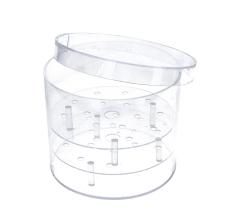 Коробка круглая акриловая 15 см/ 12 см