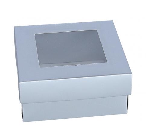 Коробка подарочная, серебряная 6cm/13cm/13cm