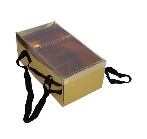 Коробка подарочная, золотая 28cm /15cm /11cm 9P9573