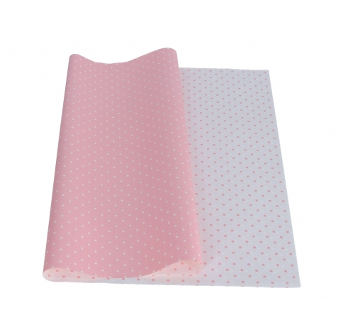Набор пленки белая в точки op=20szt 50cm /70cm  розовая