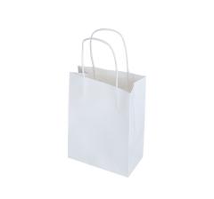 Пакет подарочный белый h 21cm l 15cm d cm 9T4842S