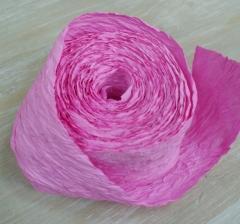 Бумажная лента 4 см*10 м, ярко-розовая