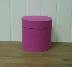 Коробка бархатная, малиновая d-150, h-150.