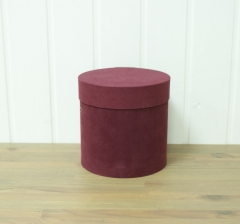 Коробка бархатная, бордовая, d-200, h-200