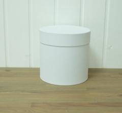 Коробка бархатная, белая, d-200, h-200