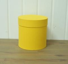 Коробка бархатная, желтая, d-150, h-150