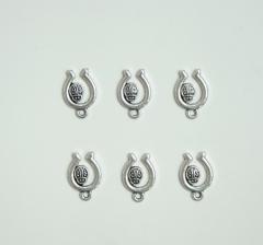 Комплект подков с божьей коровкой металлических, арт. PM131 (40 шт.)