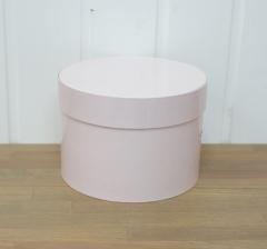 Коробка для цветов цилиндр, пудрово-розовая  d-150, h-105