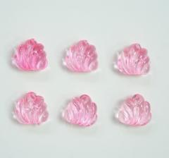 Бусины прозрачно-розовые , 1 пакетик ( 50 г. )