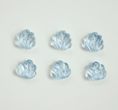 Бусины прозрачно-голубые , 1 пакетик ( 50 г. )