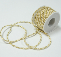 Шнур канатный 3 мм/ 10 м, молочно-золотой