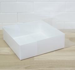 Коробка подарочная 250*250*80,с прозрачной крышкой и белым дном