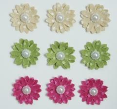 Набор цветков из джута ( 9 шт. в наборе), HR3291