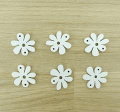 Набор цветков белых деревянных (100 шт.)