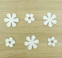 Набор из цветков белых деревянных ( 80 шт.)