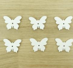 Набор бабочек белых деревянных (100 шт.)