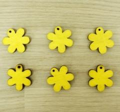 Набор цветков деревянных желтых ( 100 шт.)