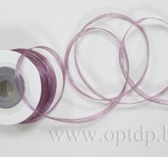 Лента из органзы 7мм/30м фиолетовая