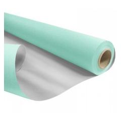 Бумага Kraft Duo 79 см/ 40 м, голубая с серебром