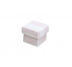 Коробка картонная сборная 35*35*35 розовая полоска
